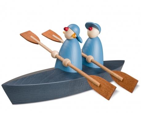 Bootspartie im Zweier, hellblau
