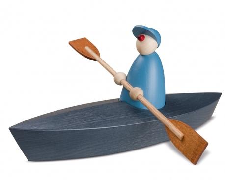 Bootspartie im Einer, hellblau
