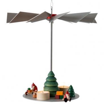 Hängepyramide LUMA Klassik inkl. 3 Teelichthaltern aus Ahornholz | Höhe 32 cm