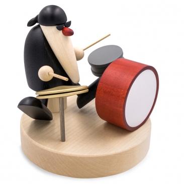 Herr Schneider am Schlagzeug | Art. 5692 | Höhe 10,5 cm, SockelØ 10,5 cm