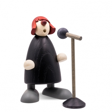 Frollein S. am Mikrophon | Art. 5631 | Höhe 8 cm