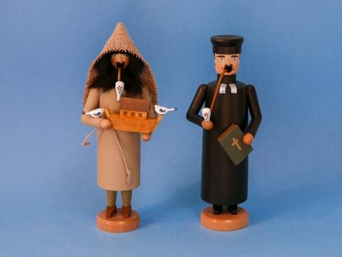 Noah und Pfarrer (jeweils ca. 21 cm hoch)