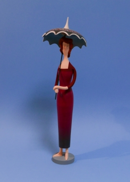 Dame mit Schirm (41 cm hoch)