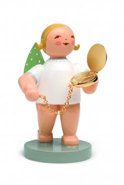 Goldedition No 12 Begleiter, Engel mit Taschenuhr, vergoldet