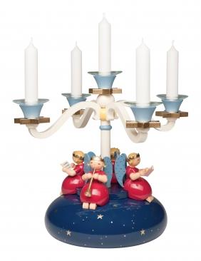 Tischleuchter, vierarmig, mit 4 Engeln