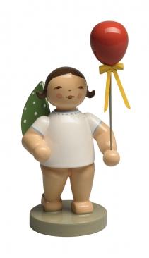 Engel mit Luftballon, rot
