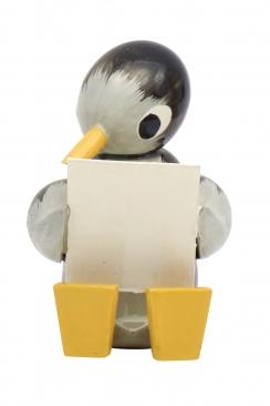 Pinguin, groß, lesend