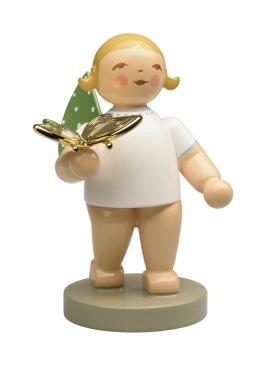 Goldedition No 13, Träumer, Engel mit Schmetterling, vergoldet